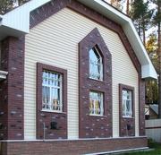 Облицовка фасадов  зданий сайдингом и кирпичом